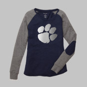 Breen Elementary Elbow Patch tee with Foil Paw Print